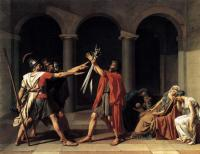 El Juramento de los Horacios, de Jacques-Louis David
